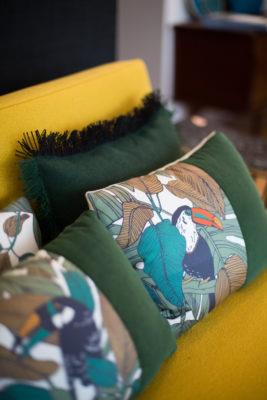 Coussins et décors de lit